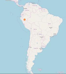 Area di ritrovamento degli Apistogramma baenschi, in Perù.