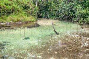 Panoramica di un corso d'acqua chiara, Venezuela.