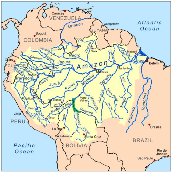 Area di maggior diffusione di Mikrogeophagus altispinosus.