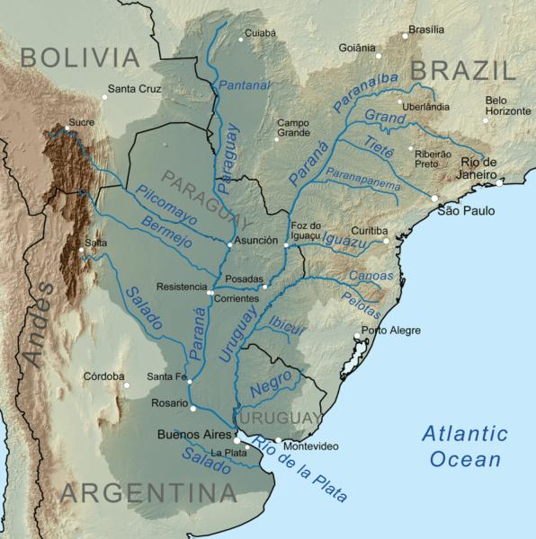 Mappa Rio De La Plata