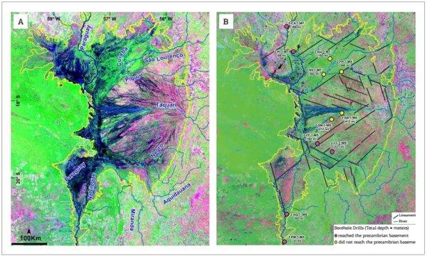 Foto satellitare Pantanal