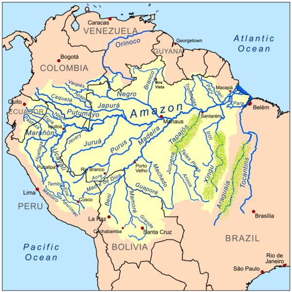 Distribuzione Laetacara araguaiae